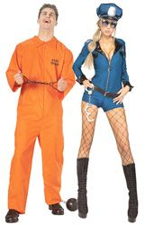 Prisoner and Sexy Cop Couples Costume  sc 1 st  Pinterest & Prisoner and Sexy Cop Couples Costume | Customs | Pinterest ...