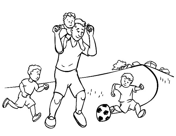 Play Football With Daddy I Love Dad Coloring Pages Coloring Sky I Love My Dad Love Dad Coloring Pages