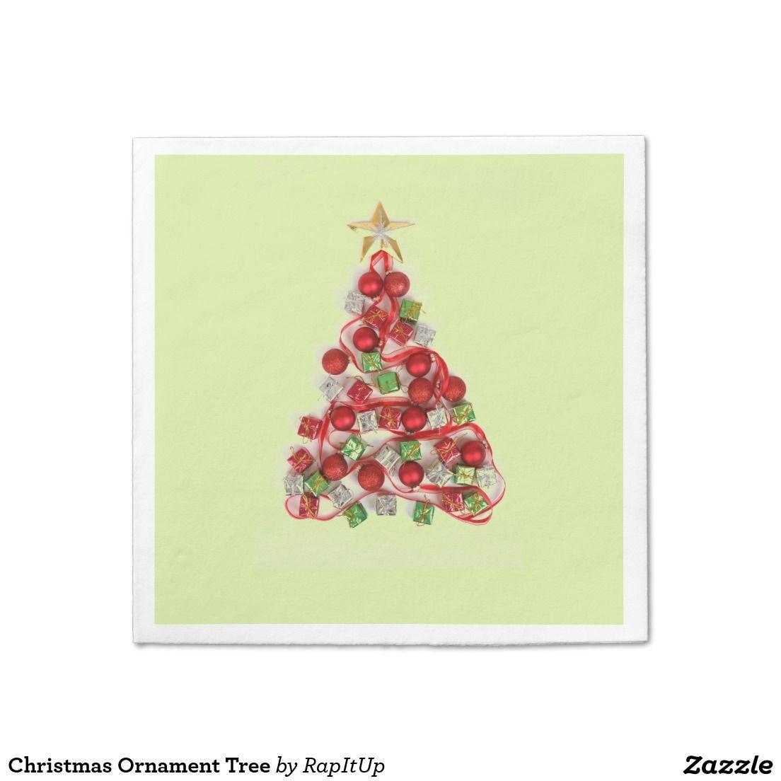 Christmas Ornament Tree Paper Napkin   Christmas 2016   Pinterest ...