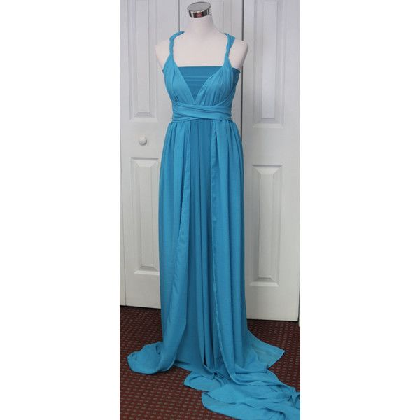 Infinity Chiffon Train Maternity Gown Dress Photo Prop Turquoise ($148) ❤ liked on Polyvore featuring maternity, dresses, red and women's clothing