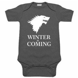 2aef154813d WINTER IS COMING BABY ONE PIECE GAME OF THRONES CREEPER ROMPER (6 Month