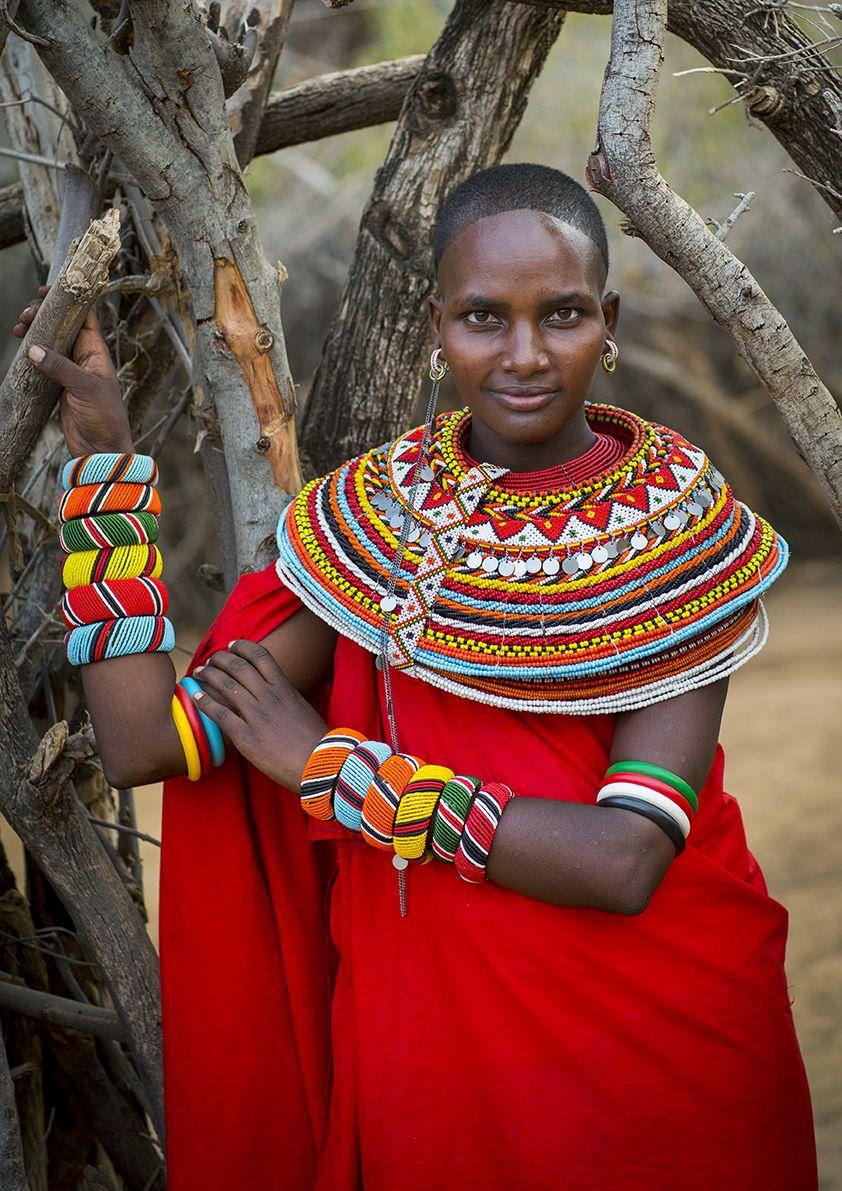 collier femme massai
