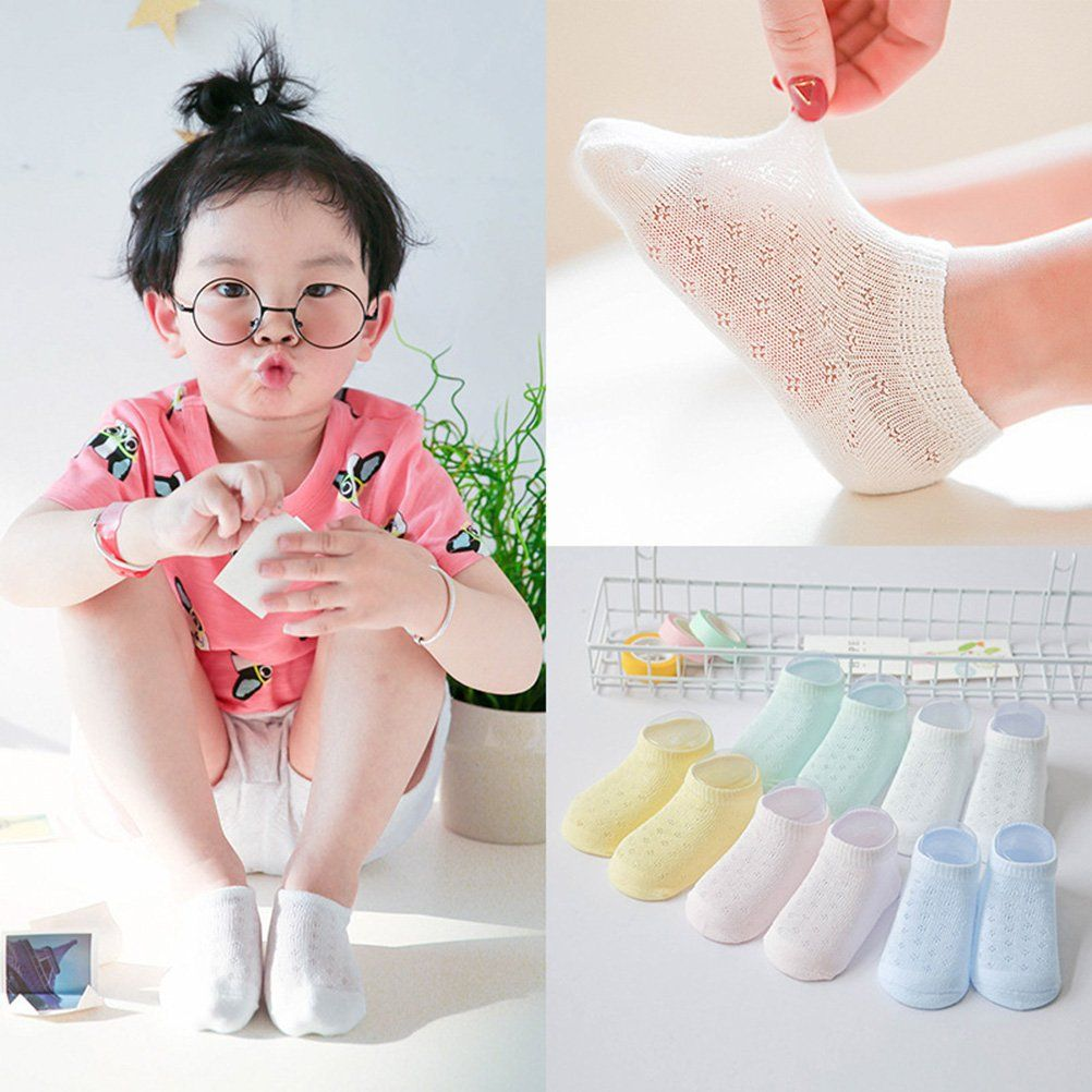 0-24 Months Fancy Design Ankle-Height Kids Socks Slip and Non Slip 5 Pairs per pack
