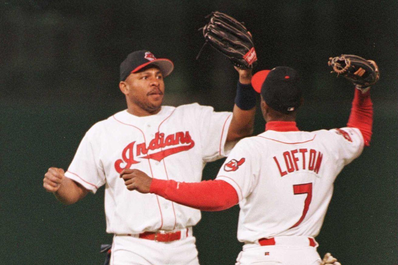 8 Albert Belle 7 Kenny Lofton Cleveland Indians Indians Baseball Kenny Lofton