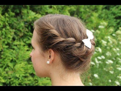 Sommerfrisur Fur Mittellange Haare Youtube Haare Pinterest