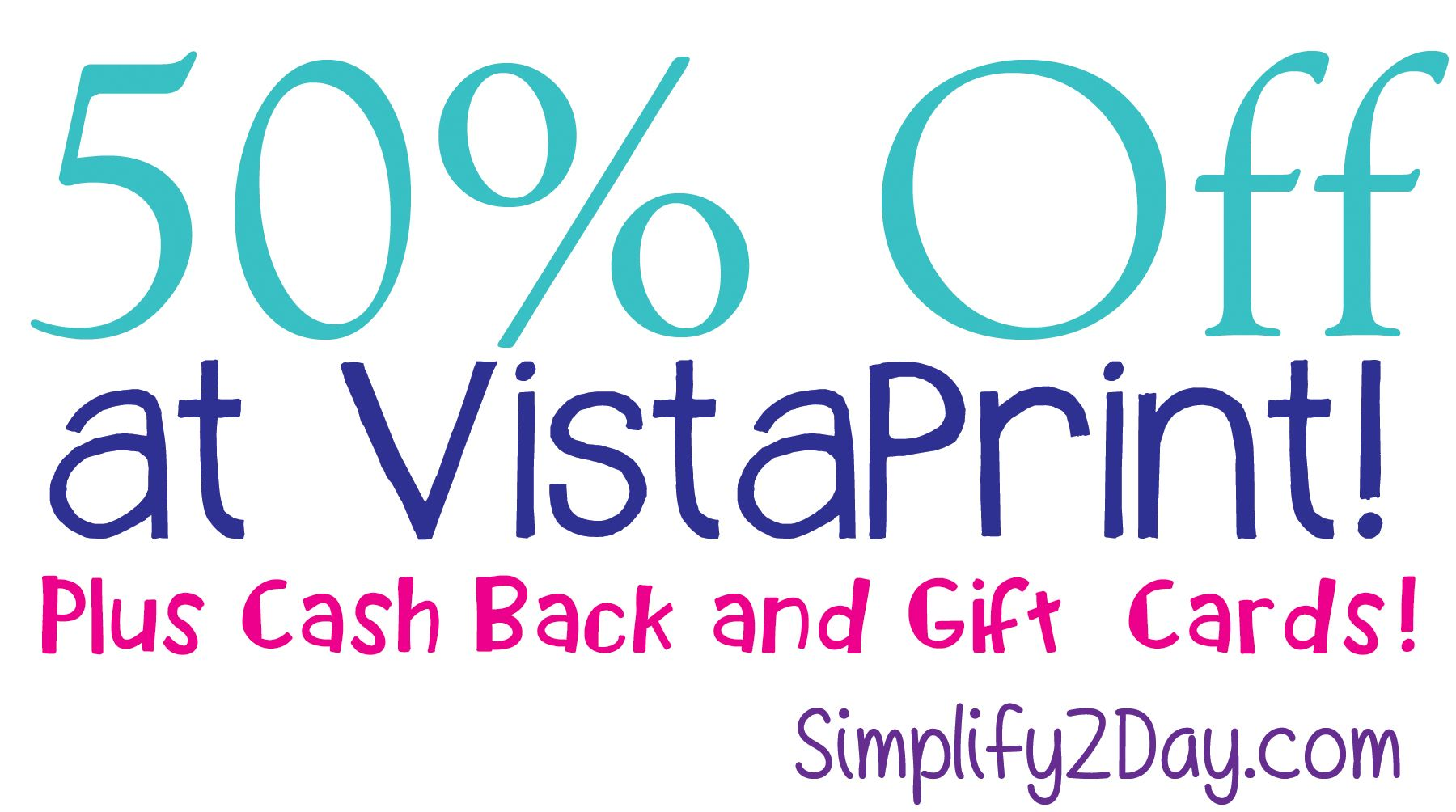 50 Off At Vistaprint Vistaprintcode