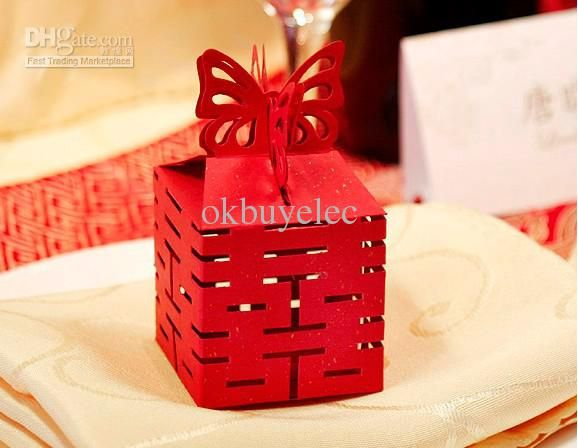 Butterfly Candy Gifts Box Wedding Favor Boxes Chinese