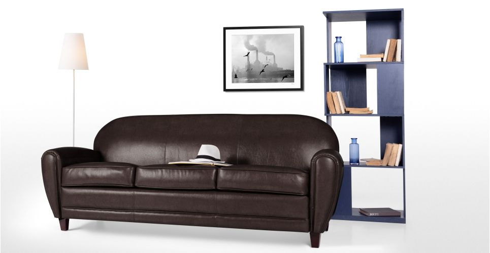 Jazz Club 3 Seater Sofa, Chocolate | made.com