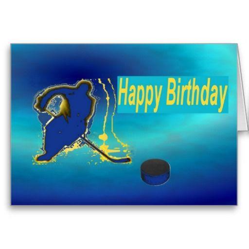 Ice Hockey Birthday Cards | Happy birthday | Hockey ...