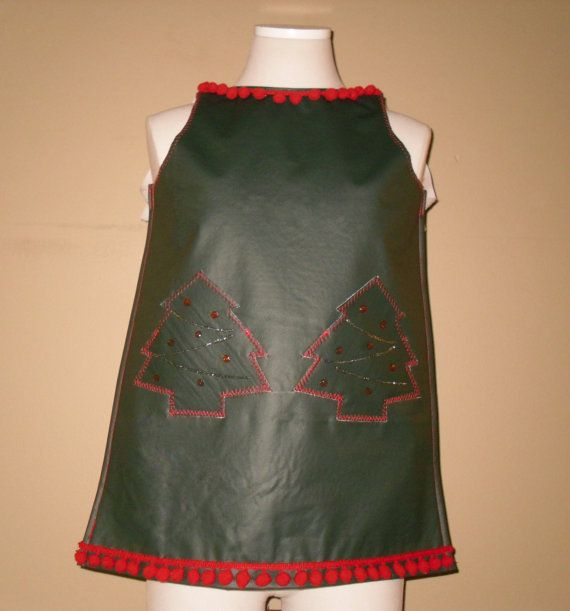 Childrens Vinyl Anything Apron  Christmas Tree  by Instinct2create, $8.00