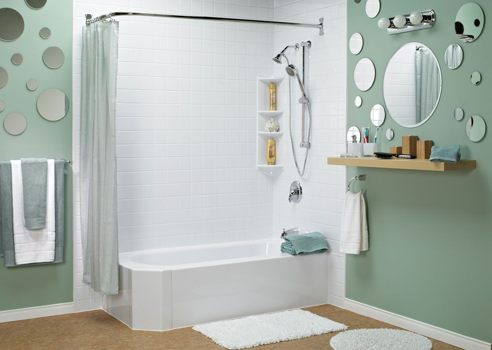 Bathfitter example  two walled shower tub 3 Ways to a Better Bathtub Lifestyle Pinterest Bathtubs