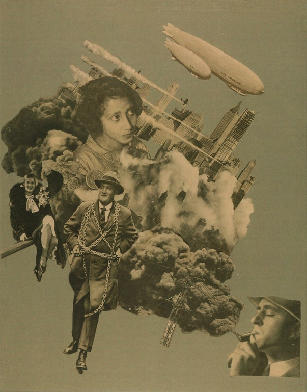 Photomontage by Marianne Brandt (1893-1983). Bauhaus. While her designs for mass production - lamps, teapots etc - were highly successful, her collages were seemingly not intended for public display, only coming to light in the 1970s.