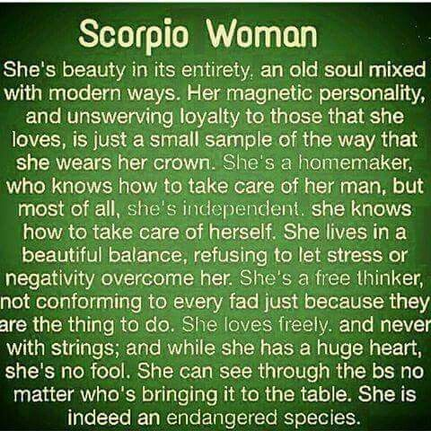 Scorpio woman questions