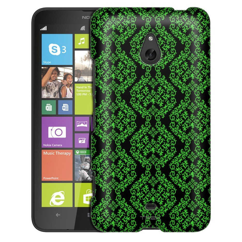 Nokia Lumia 1320 Victorian Stunning Green on Black Slim Case