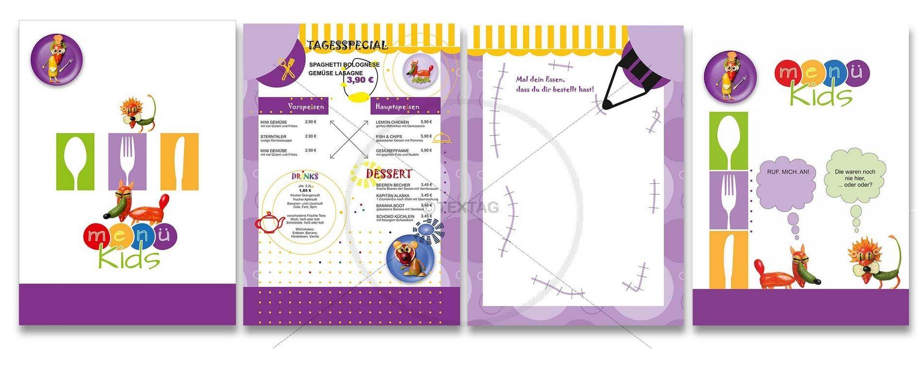 Kinderspeisekarte Vorlage Mit Text 4 Seitig Din A4 Hochformat 0117 Speisekarten Design Getranke Karte Vorlagen