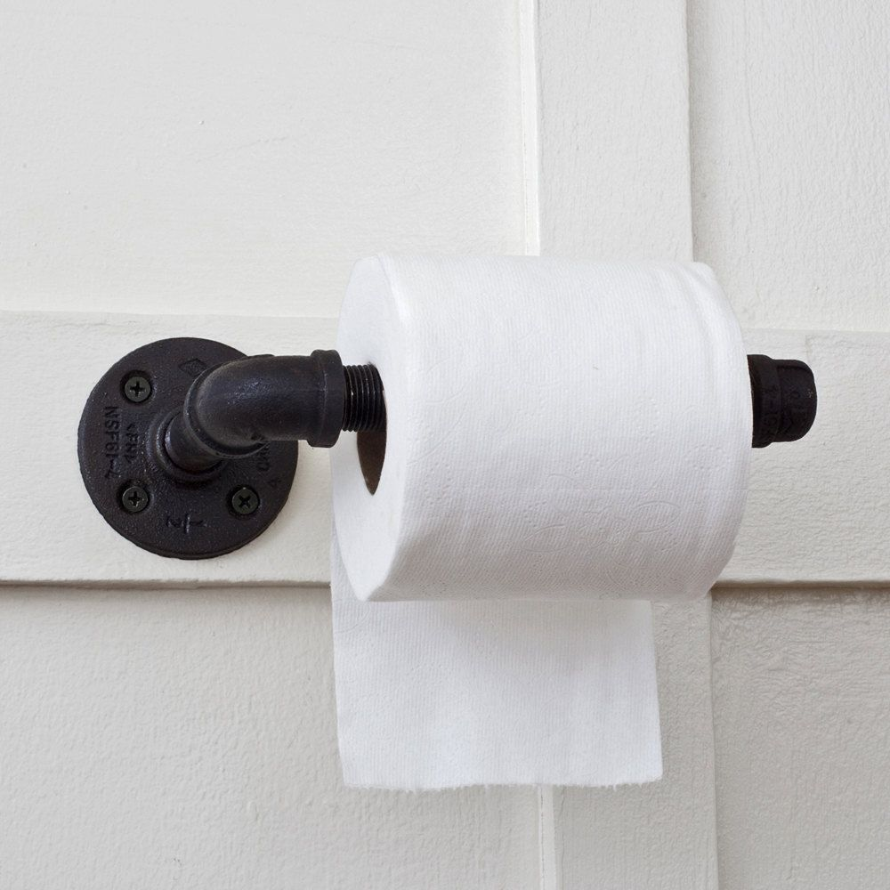 Plumbing Pipe Toilet Paper Holder Bathroom Tissue Dispenser - Bathroom towel bars and toilet paper holders for bathroom decor ideas
