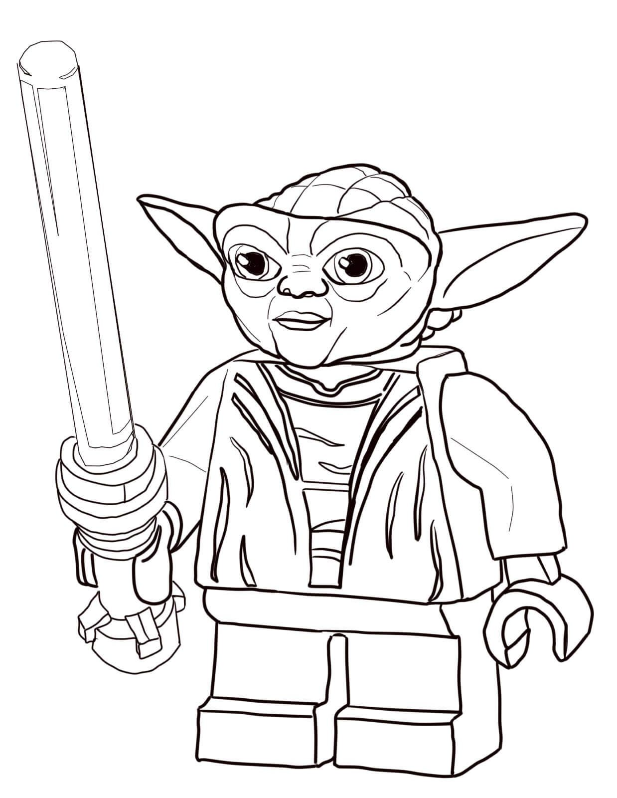 Lego Star Wars Coloring Pages for Relaxing Lego coloring