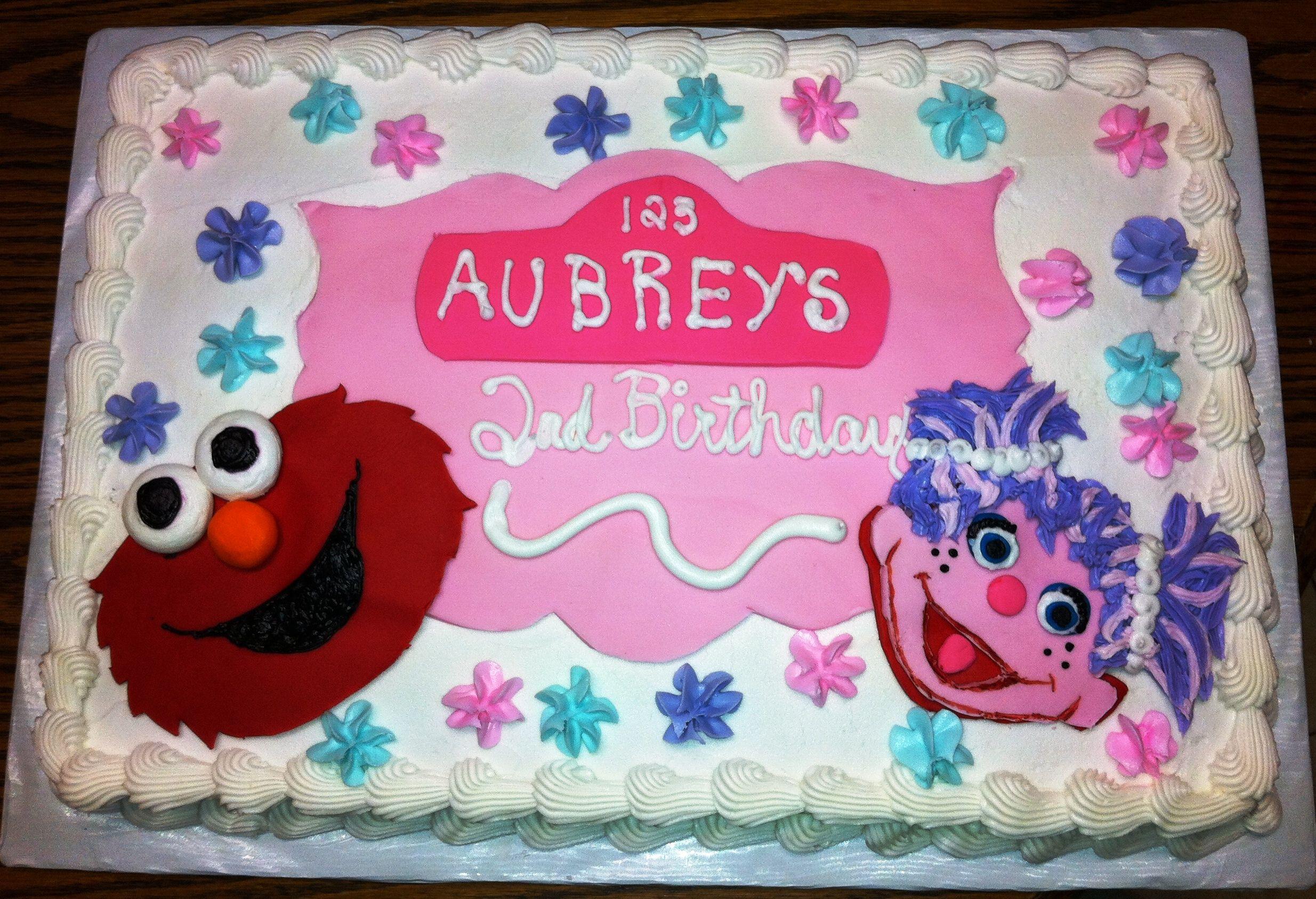 Ernie Amp Abby Cadabby Birthday Cake My Baking Pics Elmo