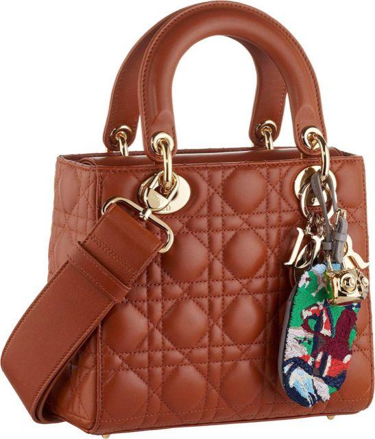 Dior Tan Small Lady Dior Bag  624ee2b1f0af5