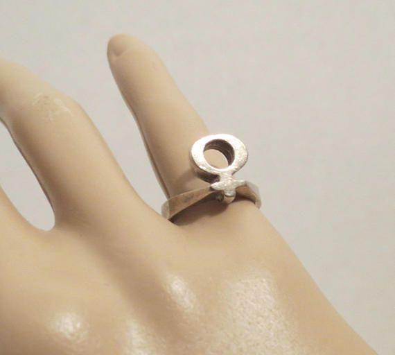 Venus Female Symbol Sterling Silver Sz 525 Rings Pinterest
