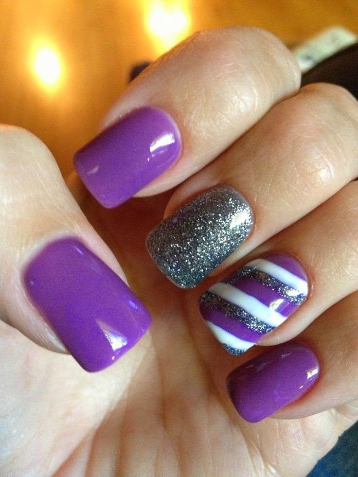 Best Purple Nail Art Designs 2014 Nails Pinterest Purple Nail