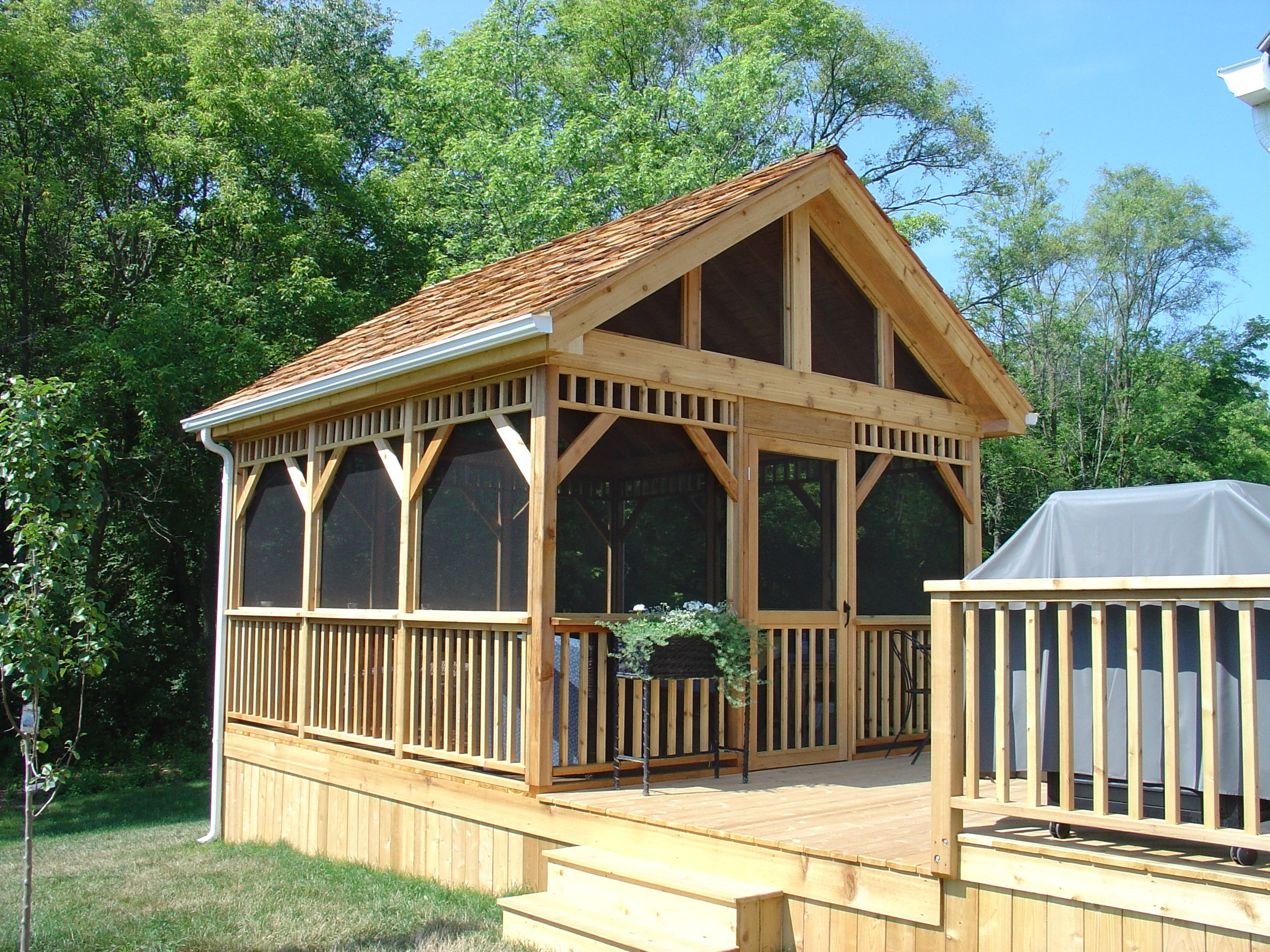 How To Build A Freestanding Patio Cover With Best 10 Samples Ideas Homivi Gazebo Plans Screened Gazebo Patio Gazebo Backyard screen house ideas