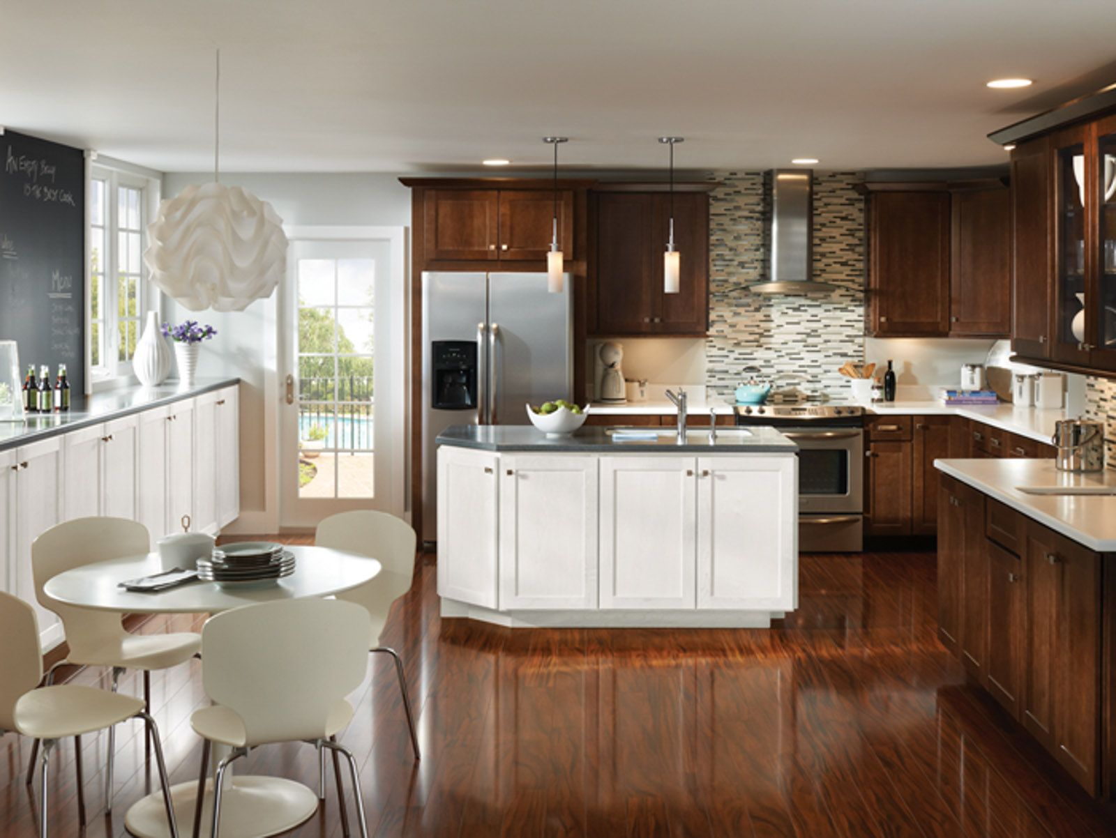 Echelon Cabinetry S Trevino Slab Is Budget Conscious Without Sacrificing Style Check Out Our B Kitchen Inspirations Maple Kitchen Cabinets Kitchen Cabinetry