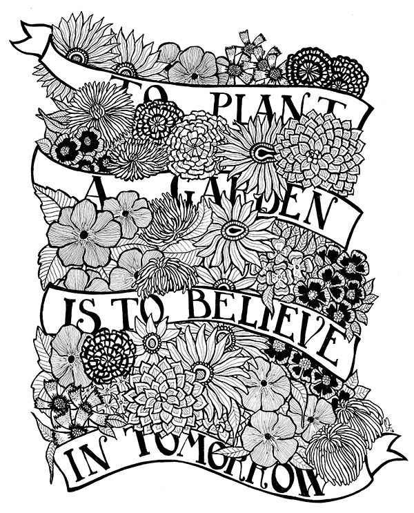 To plant a garden is to believe in tomorrow | Paper Art ...