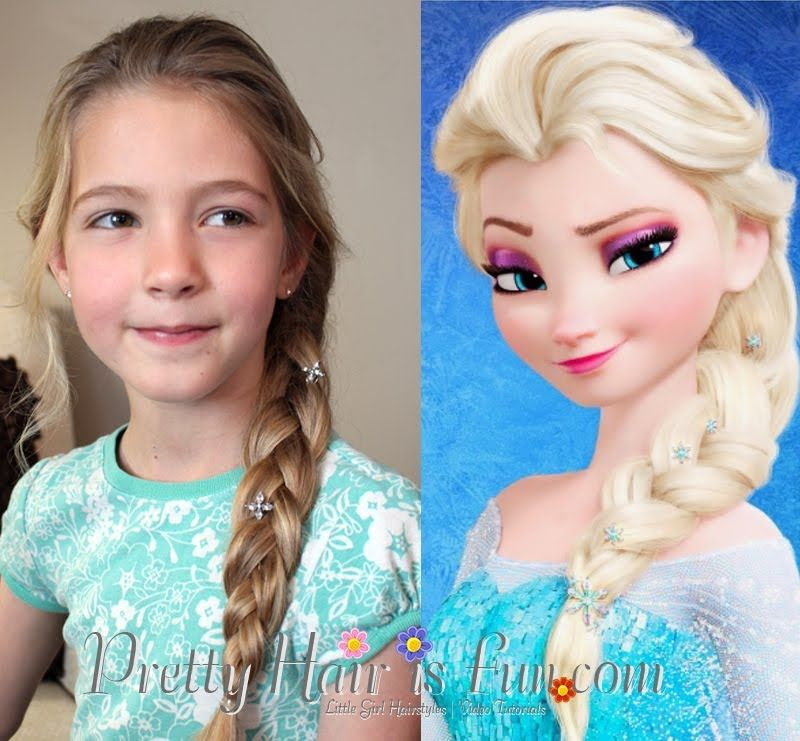 Elsa S Hairstyle French Braid From Disney Frozen Elsa Hair Elsa Braid Pretty Hairstyles