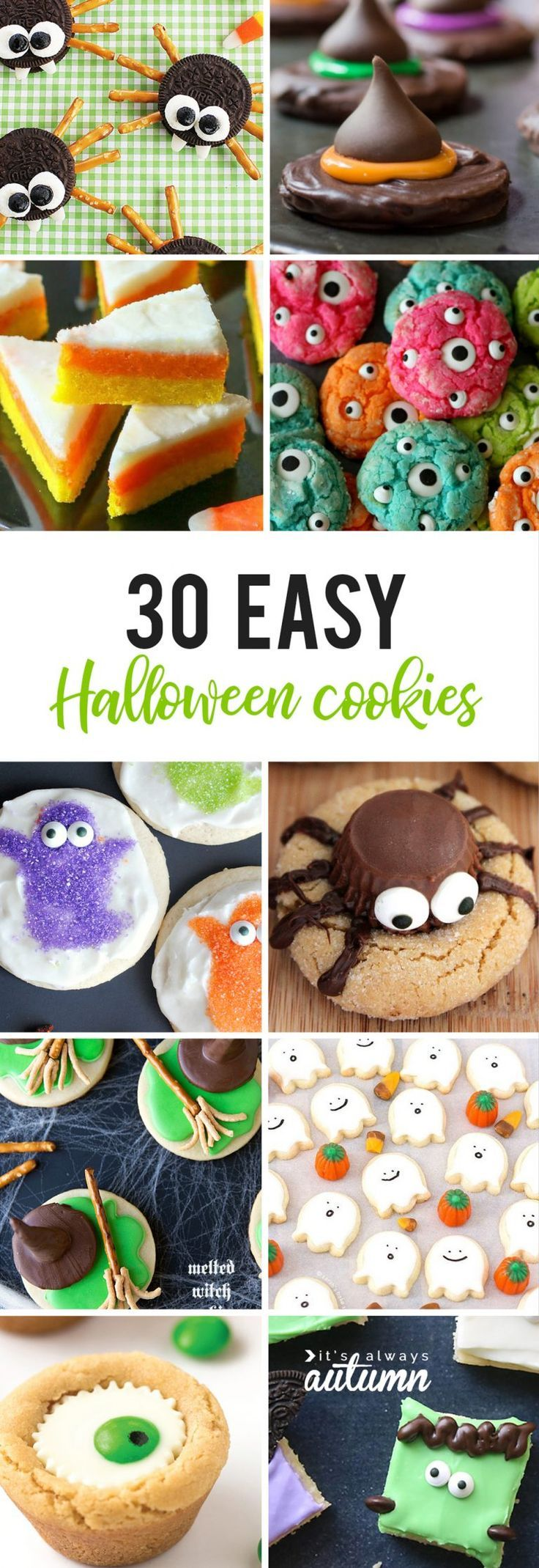 the Mega List of Easy Halloween Cookies -   23 halloween cookie recipes