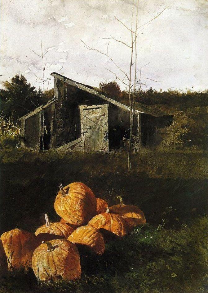 Jamie Wyeth Paintings Pumpkin