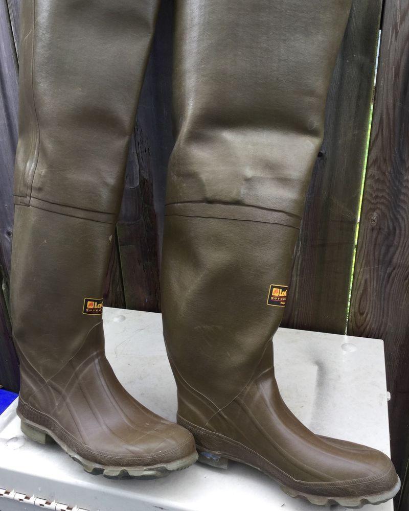 70d39ce038c Lacrosse Hip Waders Rubber Boots Boy's Size 8USA Gummi Watstiefel ...