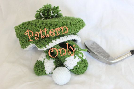 dffc7d737 PATTERN Crochet Baby Golf Hat Newsboy Hat AND by StitchinPrincess ...