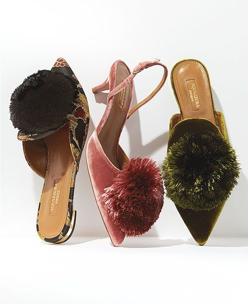 7f2bf38517ef Style Crush  Aquazurra Powder Puff Shoes