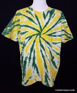 Green and Gold Tie Dye Shirt (Hand Dyed) in Short or Long Sleeve ... 531cfa4d2