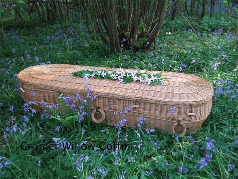 A wicker casket - many people are choosing to have a 'green