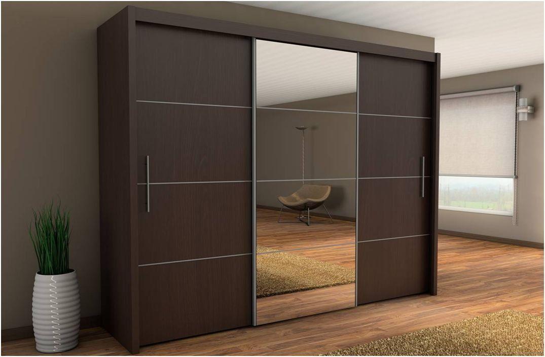 Inova Sliding Door Wardrobe Wenge Dark Brown 250cm By Furniture Factor Amazon Co Uk Wardrobe Design Bedroom Sliding Wardrobe Designs Wardrobe Door Designs