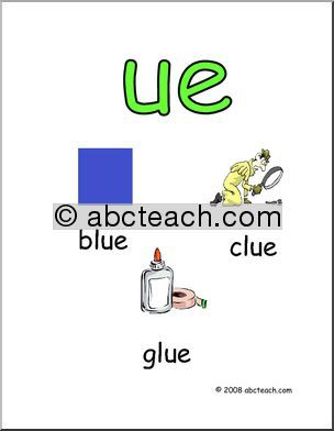 Poster: Word Family - UE Words - preview 1 | phonics | Pinterest ...