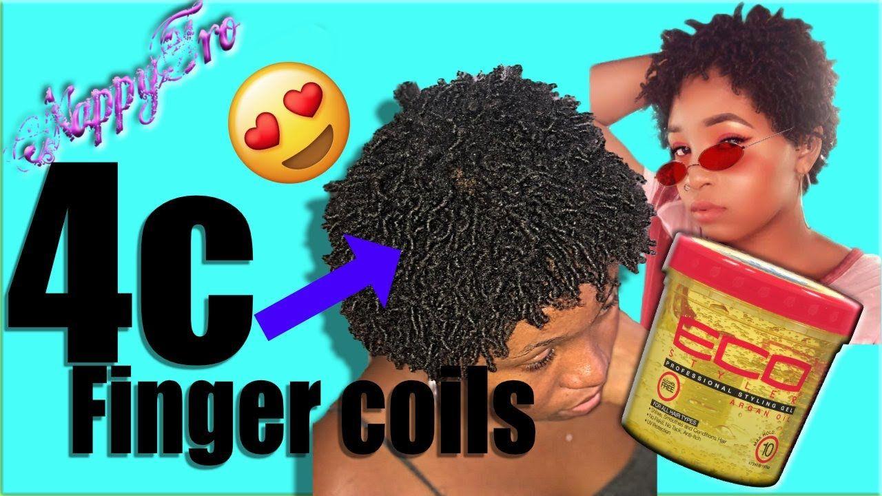 Finger Coils On Short Hair 4c Hair Eco Styler Argan Oil Gel Fingercoils Combtwist Arganoil Yout Finger Coils Short Natural Hair Styles 4c Hairstyles