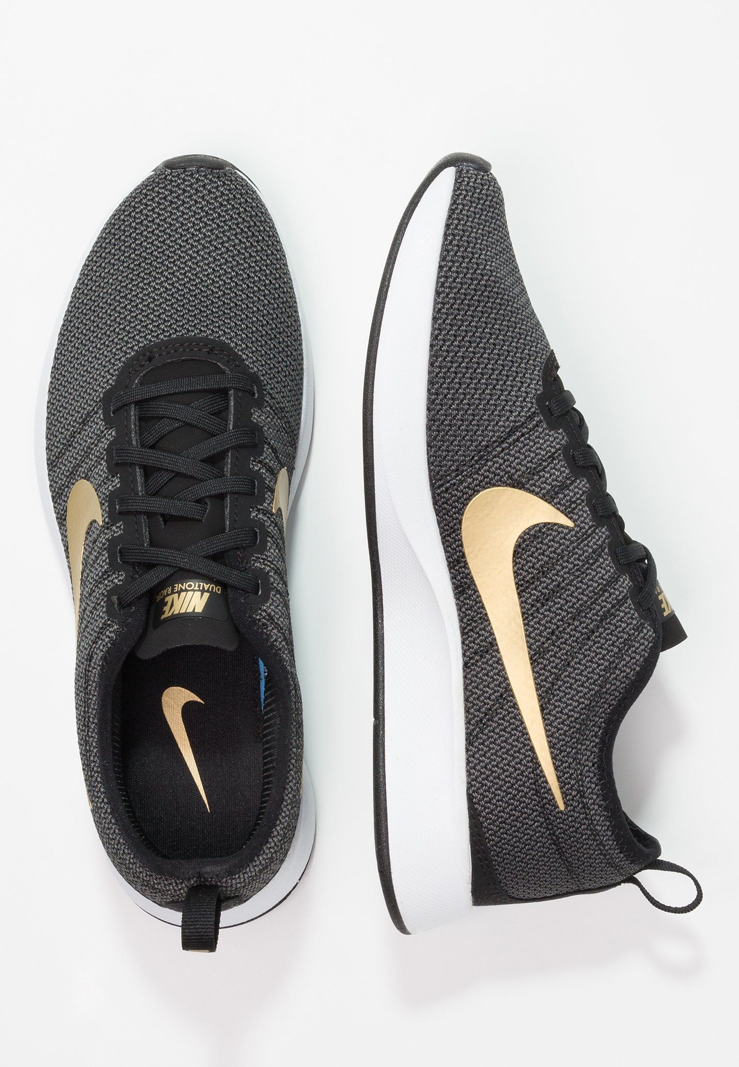 f818d983d36fb8 Nike Sportswear DUALTONE RACER SE - Sneaker low - black metallic gold dark  grey
