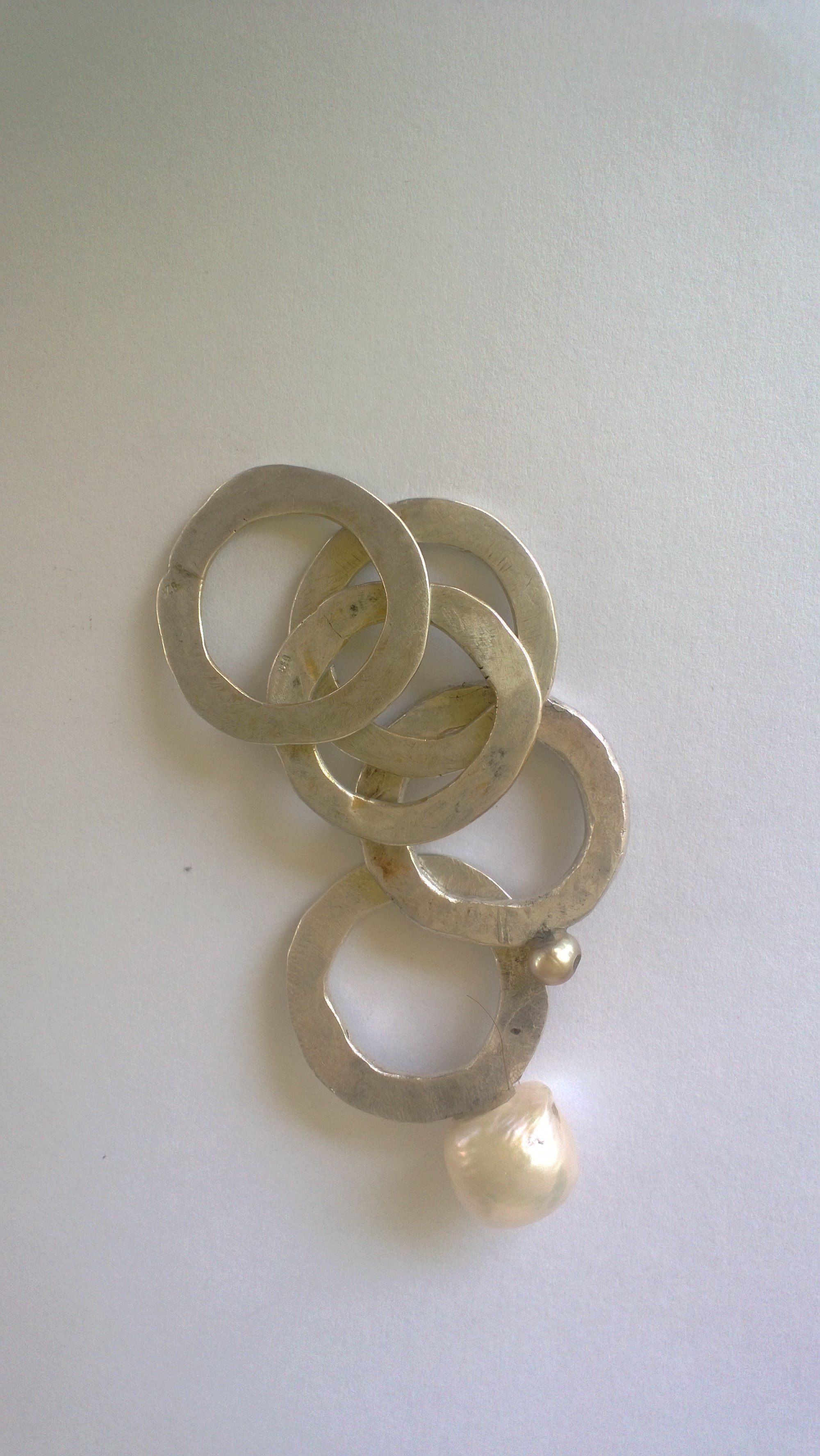 be6ca5b13640 Silver rings with pearls by Maria Vasiliou from Maria Vasiliou Kosmima..  Perlas