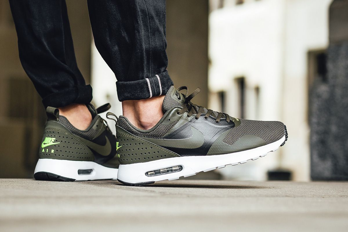 "0b8dcacc5e ... Leather Cargo Khaki Nike Air Max Tavas SE ""Cargo Khaki Electric Green""  ..."