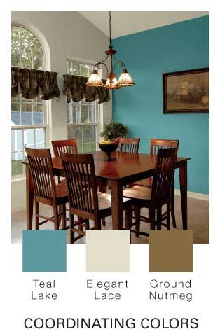 teal lakeglidden..our new dining room color scheme! love it