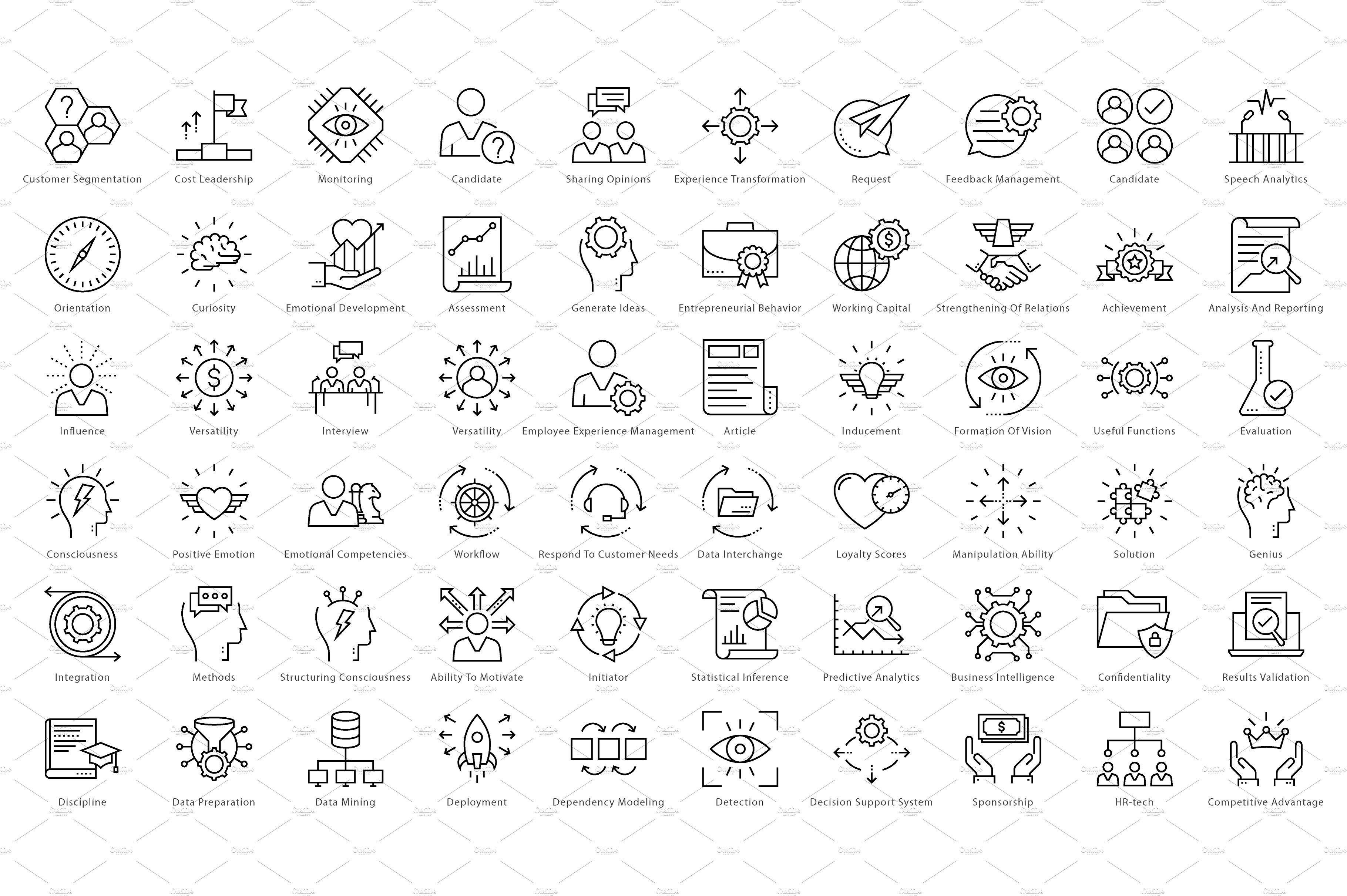 1270 Business Line Icons Line icon, Vector business card