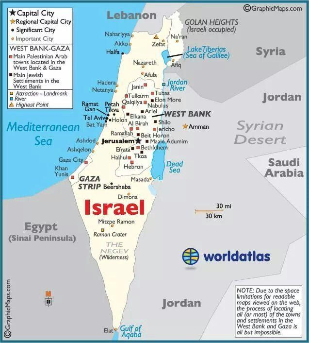 Tel Aviv Middle East Map.Israel Map Jewish Stuff In 2019 Israel Palestine Jerusalem