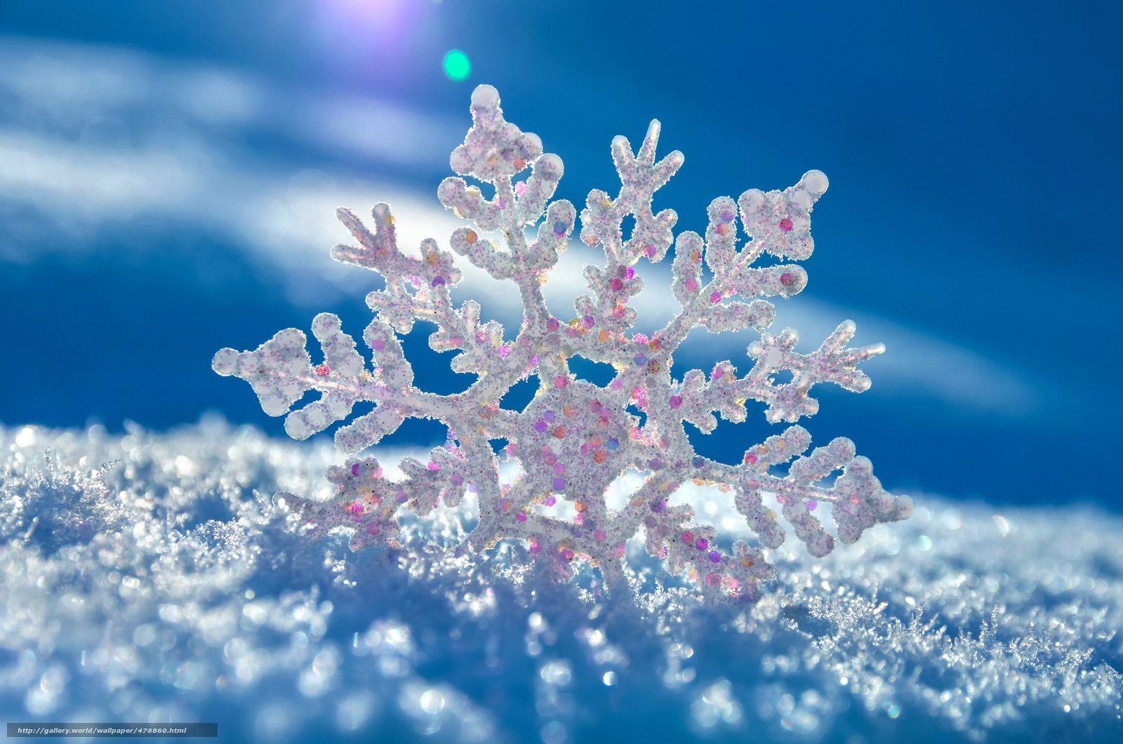 Scaricare Gli Sfondi Fiocco Di Neve Neve Vkrapinki Sfondi