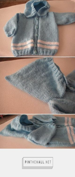 5c6e7f148 Knitting Galore  Super Easy Knit Baby Hoodie. - free pattern ...