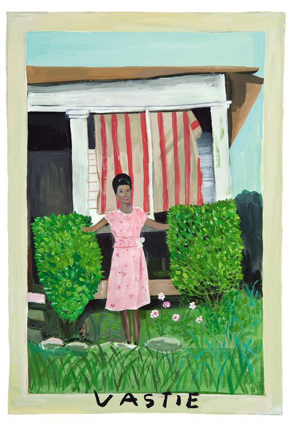 Girls Standing On Lawns A Quirky Collaboration Between Maira Kalman Daniel Handler And Moma Maira Kalman Girl Standing Painting