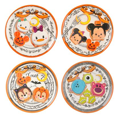 Disney Tsum Tsum Melamine Halloween Plates プレートセット