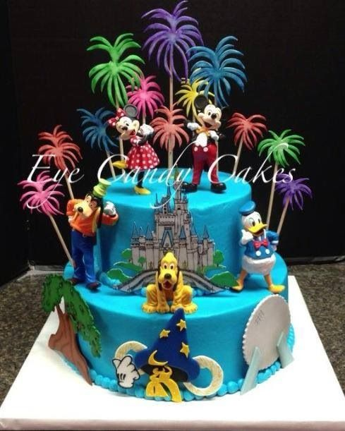 Tremendous Walt Disney World Cake Disney Birthday Cakes Disney Themed Funny Birthday Cards Online Chimdamsfinfo